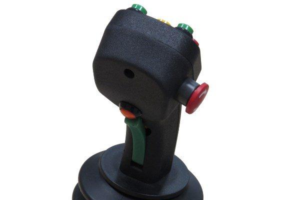 joysticks sobre dos o tres ejes con seta de emergencia